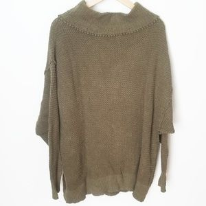 Free People Livvy olive green knit sweater